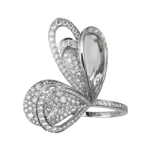 Boucheron, Bouquet of Wings ring in white gold with diamonds