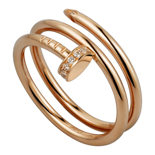 Cartier, Juste En Clou bracelet in pink gold with diamonds