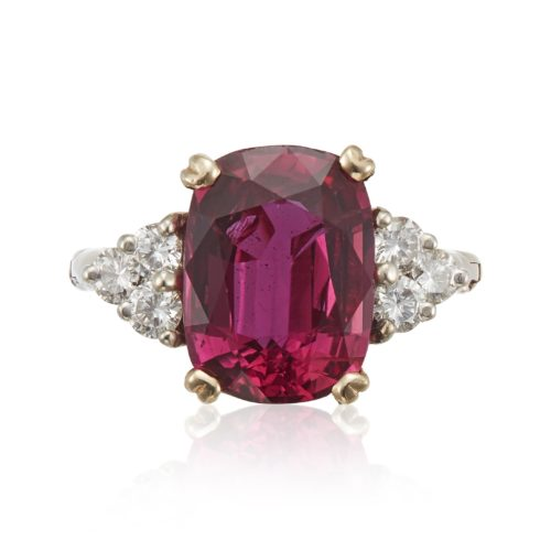 RUBY AND DIAMOND RING WITH AGL REPORT ESTIMATE: $4,000 - $6,000
