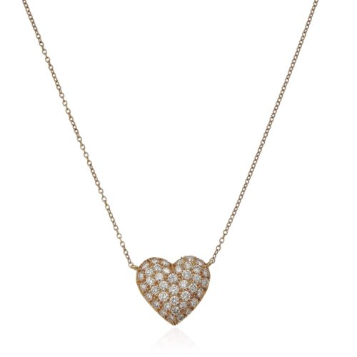 TIFFANY & CO. DIAMOND HEART NECKLACE ESTIMATE: $1,500 - $2,000