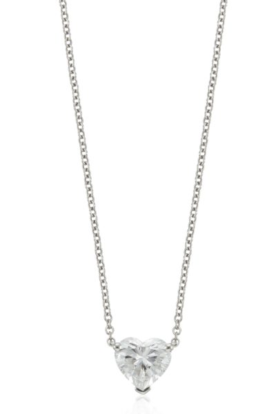 TIFFANY & CO. HEART SHAPED DIAMOND NECKLACE ESTIMATE: $3,500 - $5,000